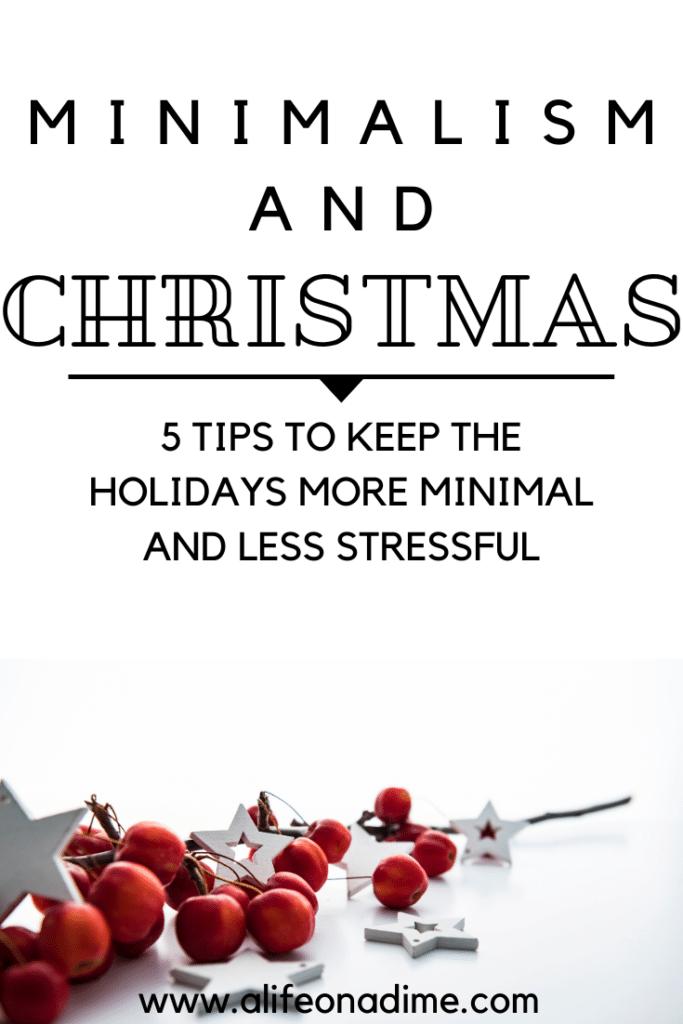 minimalism and Christmas