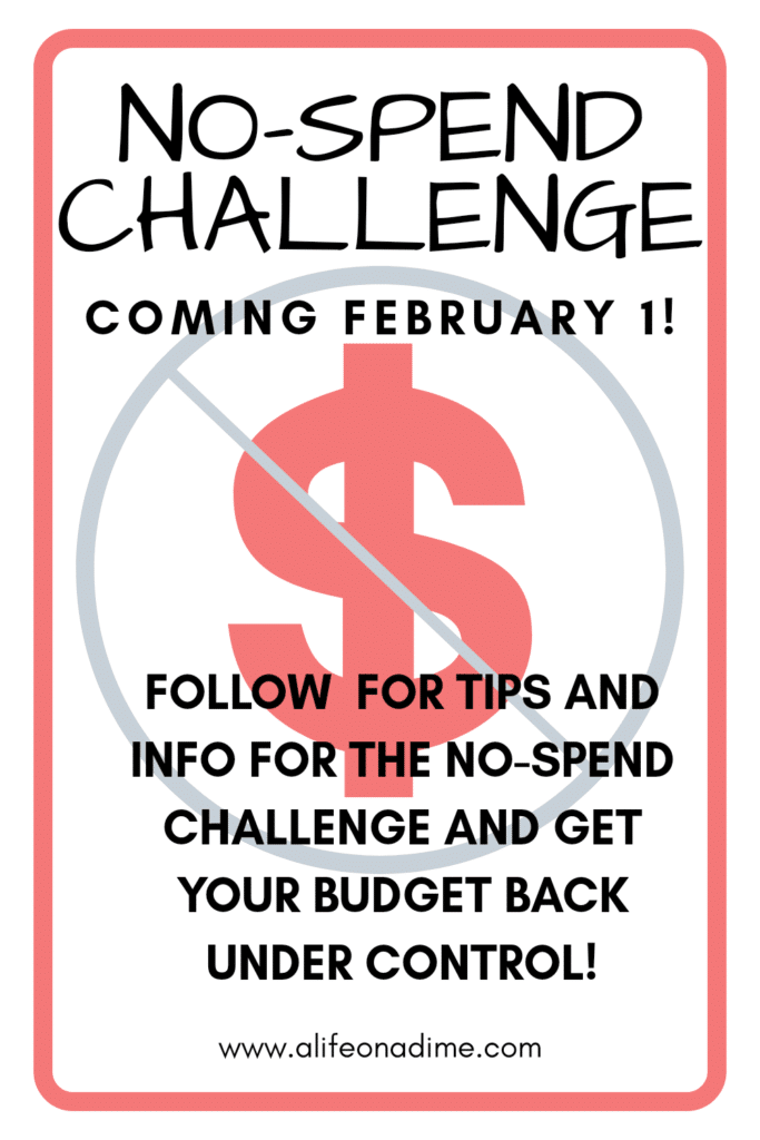 no-spend February challenge