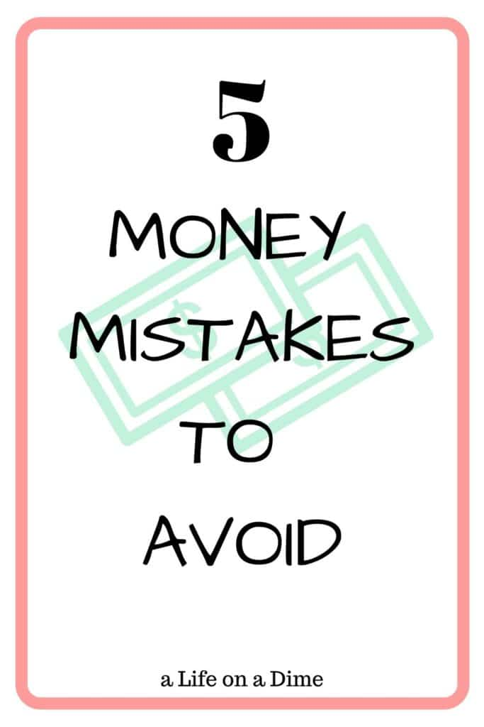 money mistakes to avoi