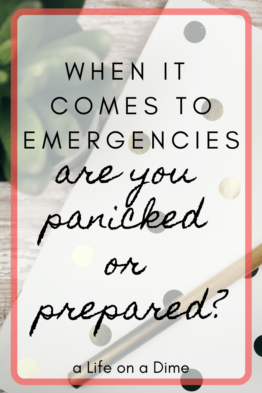panic vs preparation