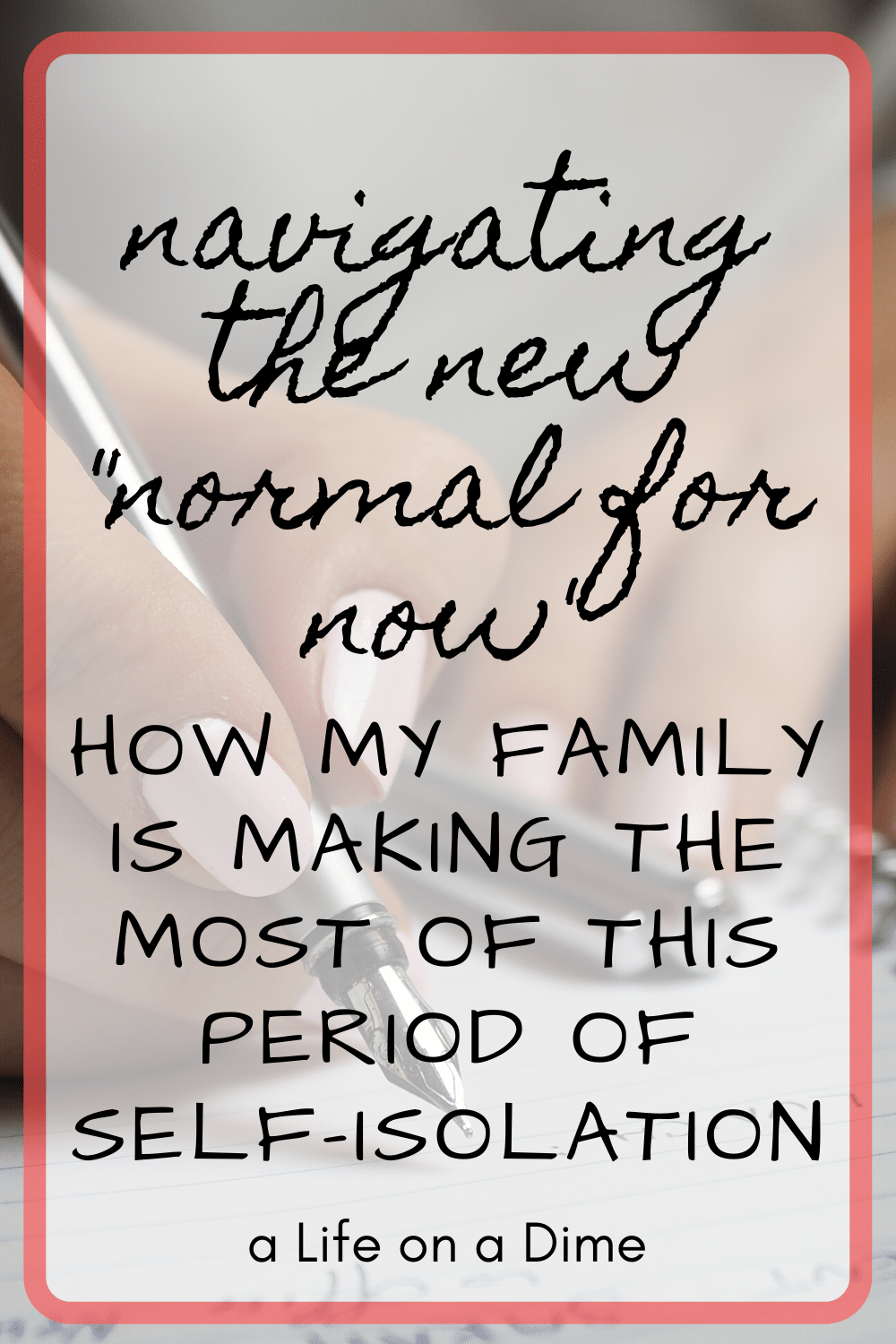"""navigating the new """"normal for now"""""""
