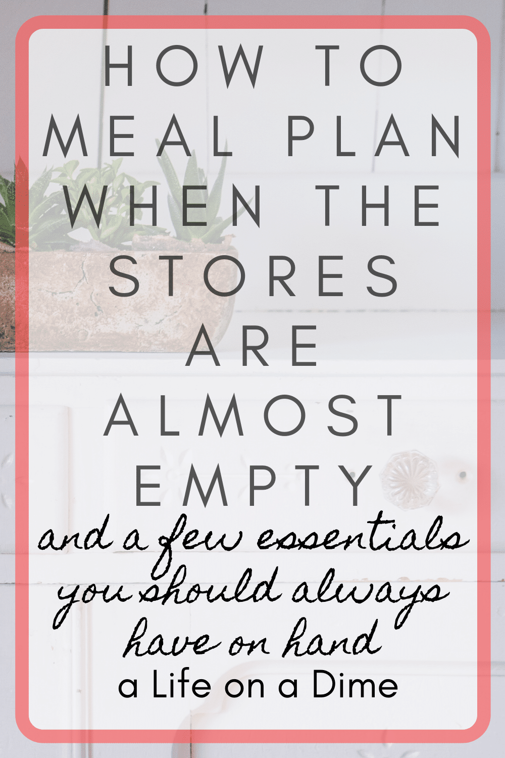meal planning in special circumstances